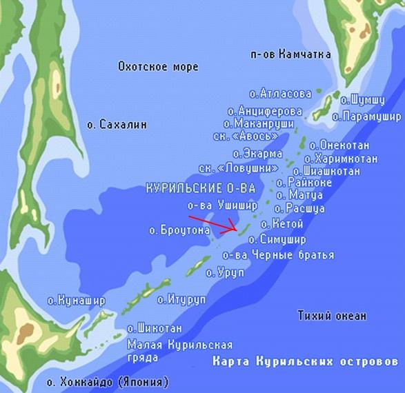 моря в Тихий океан.